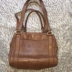 BCBGMaxAzria Brown Leather Purse w/ Shoulder Strap